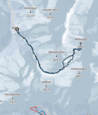 Karte / Holzgauer Wetterspitze