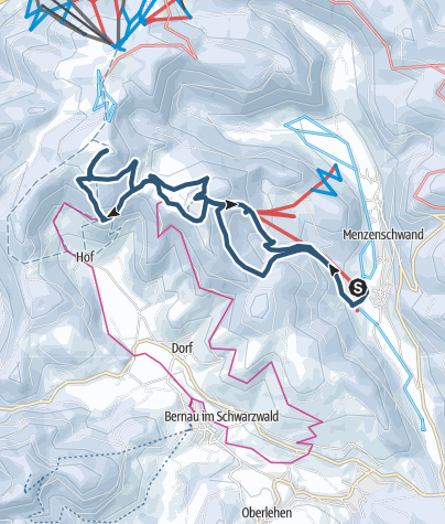 Map / Skitour Herzogenhorn