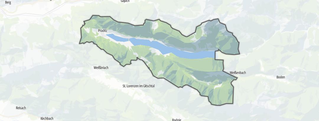 Mappa / Cammini a Weissensee