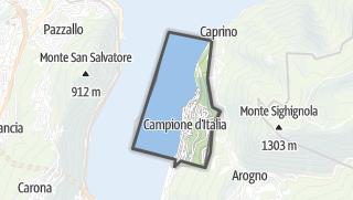 Kartta / Campione d'Italia