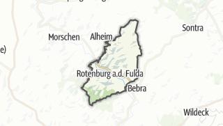 Karte / Rotenburg an der Fulda