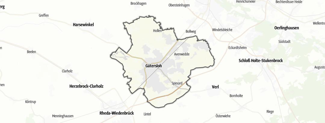 Térkép / Kerékpártúra,  Gütersloh területén