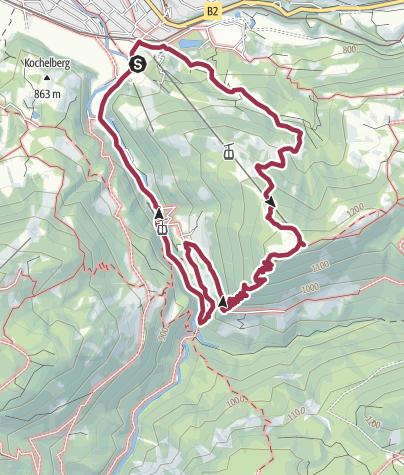 Karte / Wandern in den schönsten Ecken des Werdenfelserland