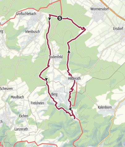 Karte / Rheinbach - Burg Vischel - Ruine Tomburg