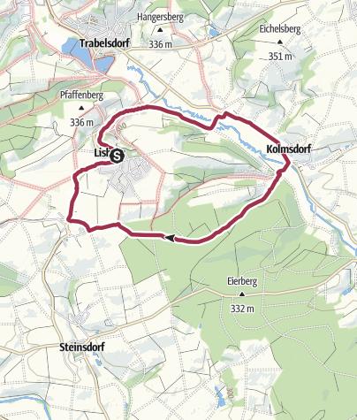 Karte / Lorenziweg Lisberg