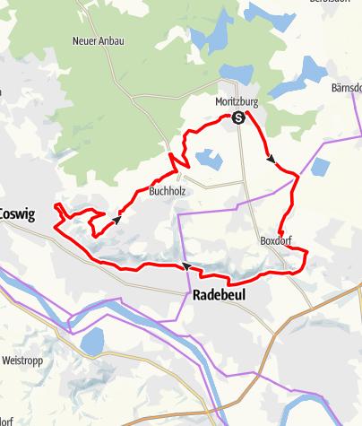 Karte / Weinberge-Tour Moritzburg und Radebeul