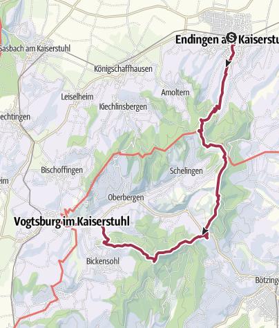 Karte / Auf dem Kaiserstuhlpfad