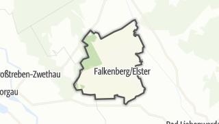 Hartă / Falkenberg/Elster