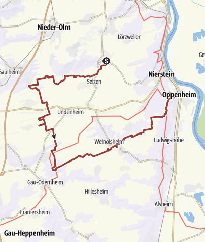 Karte / Auf der Spur der 3 Schwestern.......Mommenheim - Oppenheim