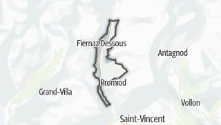 Karte / Antey-Saint-Andrè