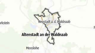 Cartina / Neustadt an der Waldnaab