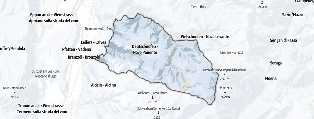 Map / Winter hikes in Deutschnofen
