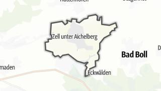 Cartina / Zell unter Aichelberg