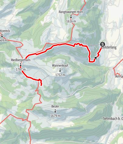 Karte / Riedberger Horn - Wanderung zum höchsten Gipfel der Hörnerdörfer
