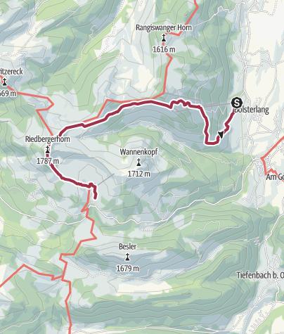 Map / Riedberger Horn - Wanderung zum höchsten Gipfel der Hörnerdörfer