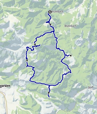 Karte / Großer Ring der Wildnis, 5-Tages-Tour