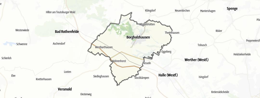 Map / Bike rides in Borgholzhausen