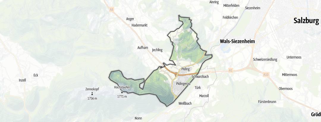 Map / Hikes in Piding