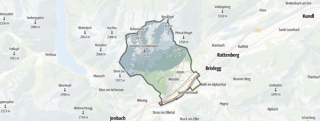 Karte / Wandern in Münster