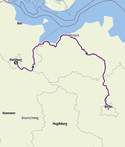 Map / hamburg-berlijn tour