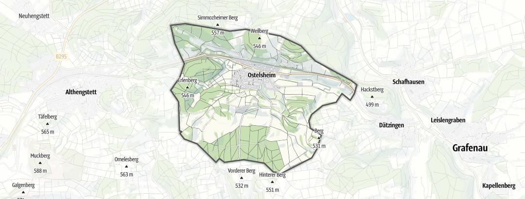 Kart / Turforslag i Ostelsheim