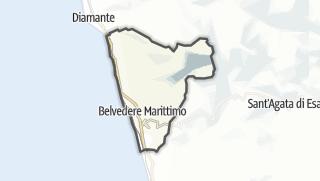 Térkép / Belvedere Marittimo
