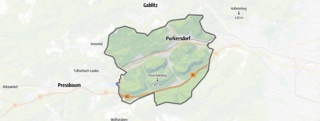 Hartă / Drumeții in Purkersdorf