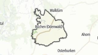 Cartina / Buchen (Odenwald)
