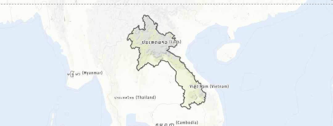 Карта / Лаос