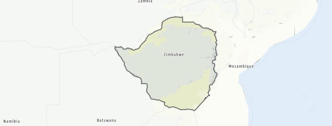 Karte / Simbabwe