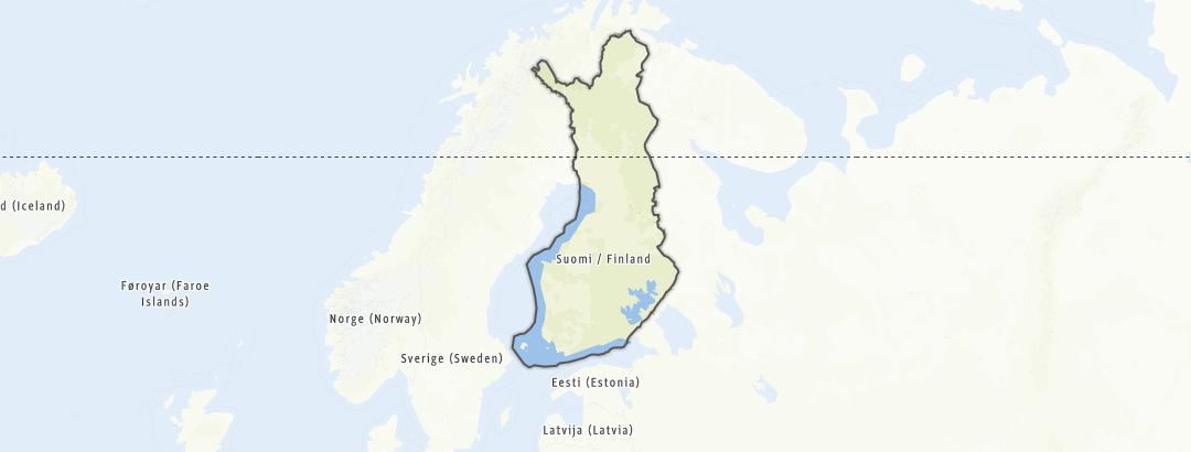 Hartă / Ciclism șosea in Finlanda