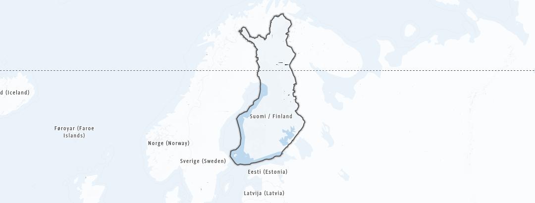 地图 / 在芬兰里的滑野雪