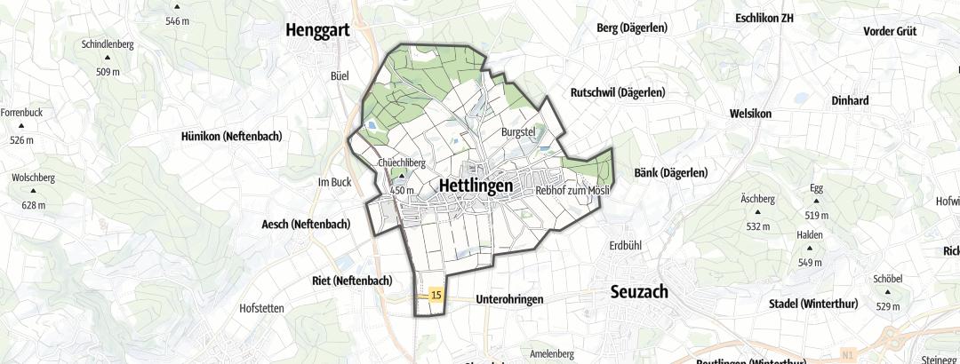 Mapa / Senderismo en Hettlingen