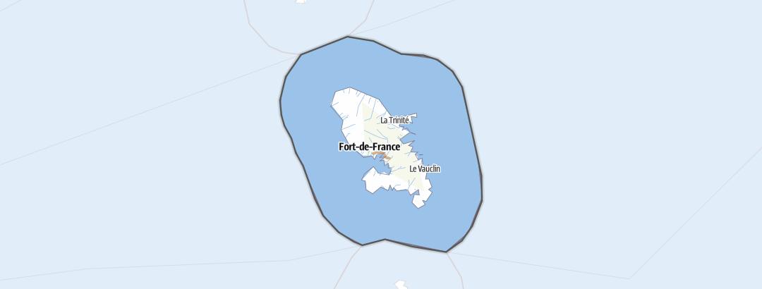 Mapa / Martinik