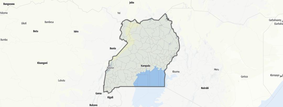 地图 / 乌干达
