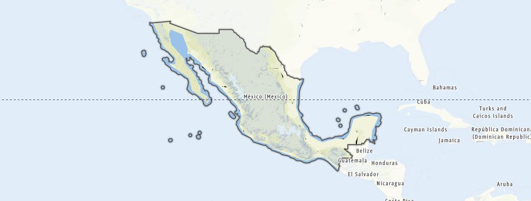 Mapa / Rutas BTT en Mexico