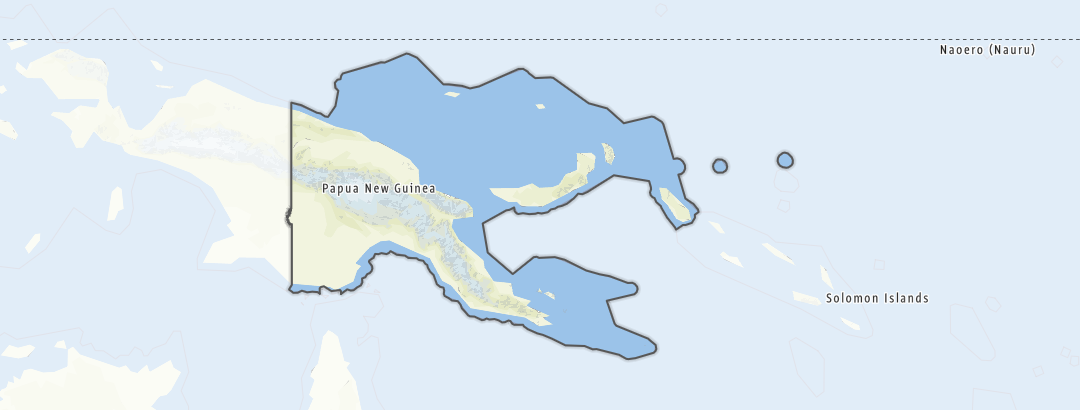 Kartta / Papua-Uusi-Guinea