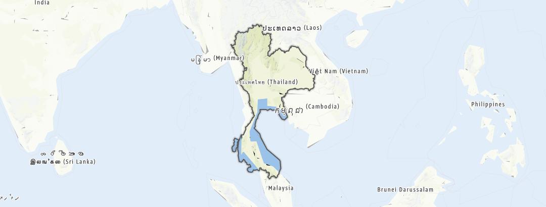 Mapa / Tailandia