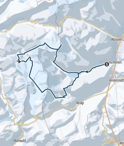 Karte / Urner  Skirunde