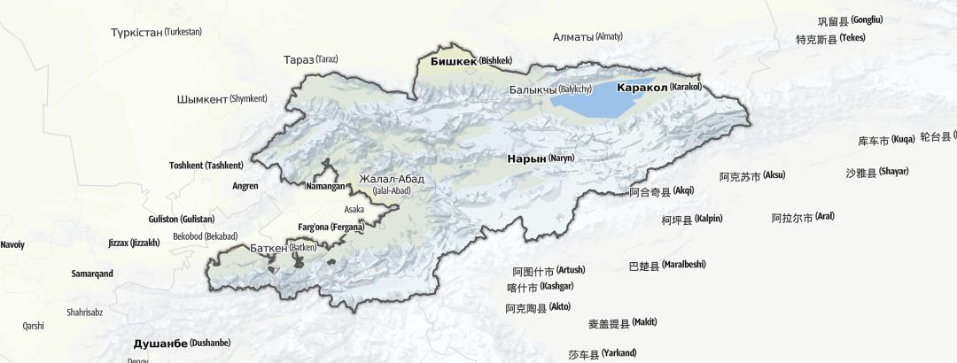 Mapa / Actividades ecuestres en Kirguistán