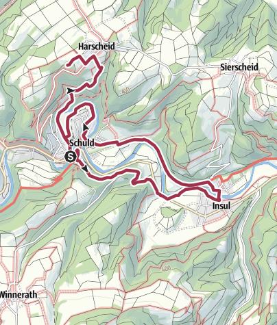 Karte / Rundwanderweg Nr. 7  Schuld-Insul-Schuld