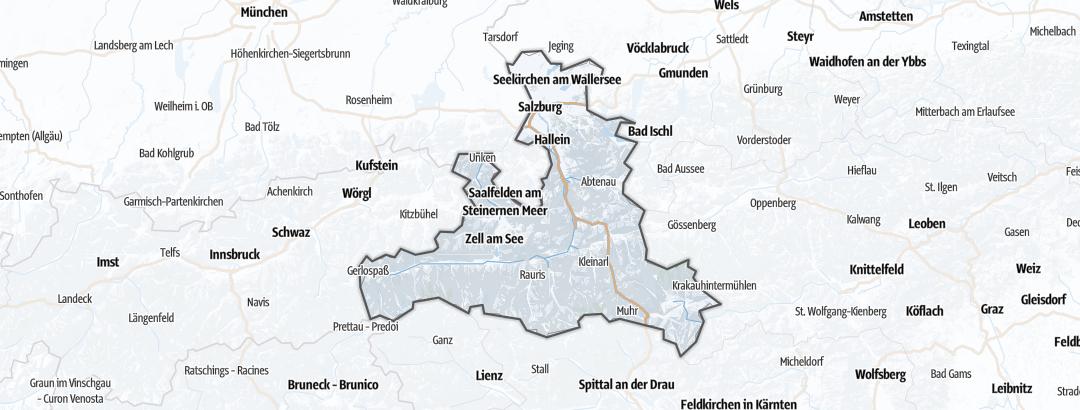 Karte / Winterwanderungen in Salzburg