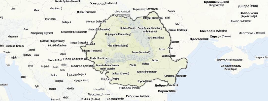 Kart / Kajakk i Romania