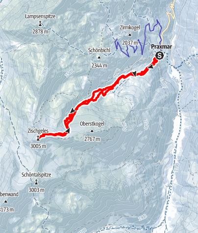 Karte / Skitour Zischgeles