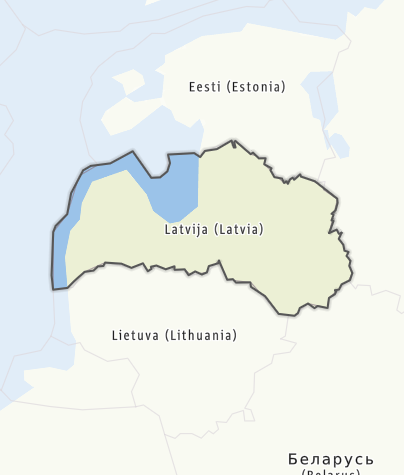 Map / Latvia