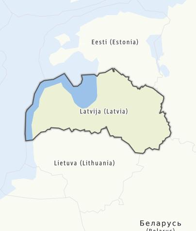 Karte / Lettland