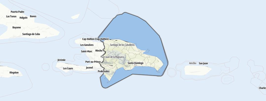 地图 / 多米尼加共和国