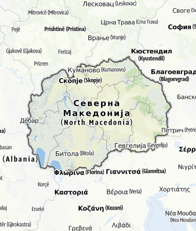 Map / Former Yugoslav Republic of Macedonia