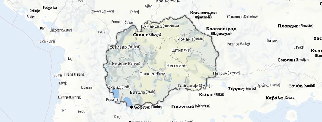 Karte / Nordmazedonien