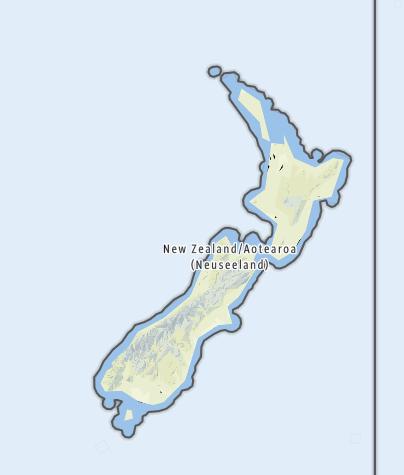 Karte / Neuseeland